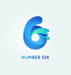 6 digit icon vector image vector image