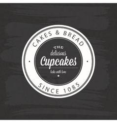 Bakery food label vector