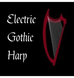 Harp gothic vector