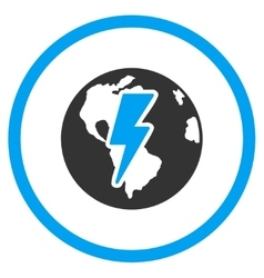 Earth shock icon vector
