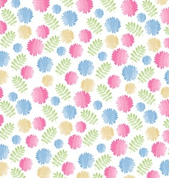 Colorful watercolor floral background vector