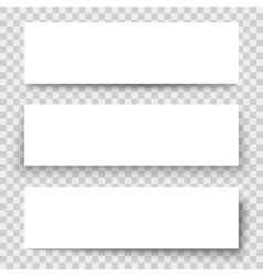 Blank sheet of paper with vertical banner and vector image