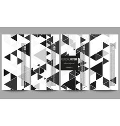 Flyers set triangular pattern abstract vector