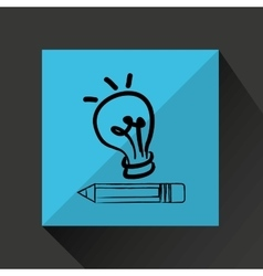 Idea bulb creativity vector