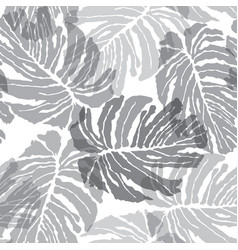 abstact seamless pattern floral jungle palm vector image vector image