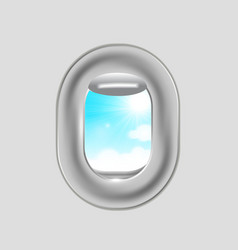 Airplane window vector image vector image