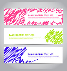 banner with abstract modern hand drawn pattern vector image vector image