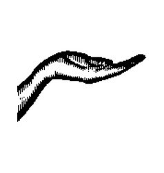 black 8-bit human hand vector image vector image