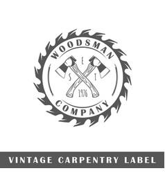 Carpentry label vector
