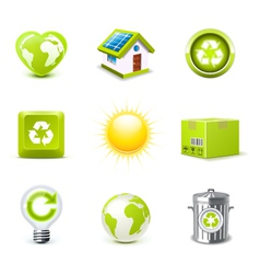 ecology icons 1 - bella series vector image
