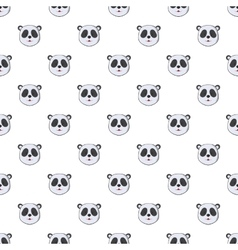 Head of panda pattern cartoon style vector
