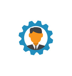 manager flat icon symbol premium quality isolated vector image