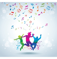 Music and young people vector image