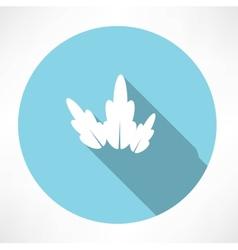 Petal icon vector image