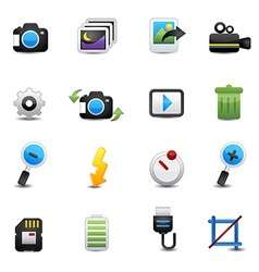 photo icons set vector image vector image