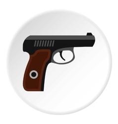 Pistol icon flat style vector