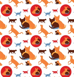 seamless lovely cats pattern vector image vector image