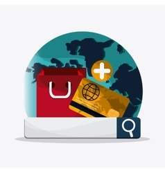 Searching online design digital marketing vector image
