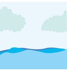 seascape water sky icon vector image
