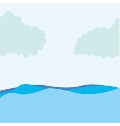 Seascape water sky icon vector