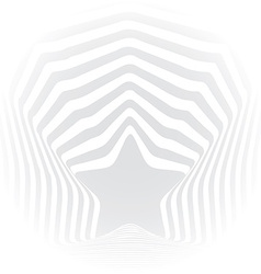 Star grey stripes optical visual art effect vector