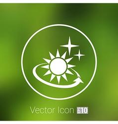 Sun icon sun icon outdoor sunlight shine vector