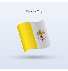 Vatican city flag waving form vector