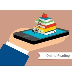 Mobile library in smartphone vector
