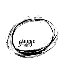 Grunge frame ink background hand drawn vector