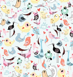 texture of the birds vector image