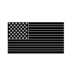 United states of america flag silhouette vector