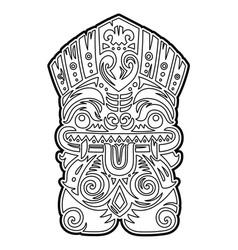 Polynesian tiki totem idol mask coloring vector