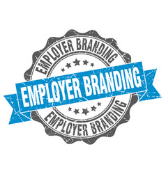 Employer branding stamp sign seal vector