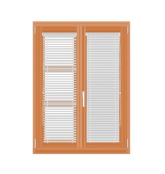 Window-and-blinds vector image