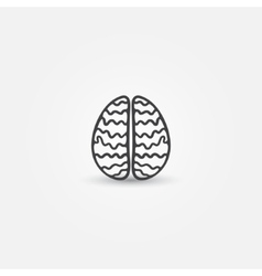 Abstract simple brain icon vector