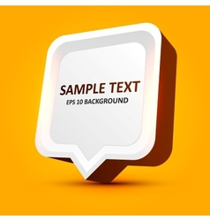 3d speech bubble vector image vector image