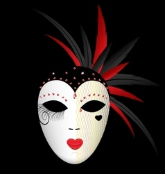 Carnival dark mask vector