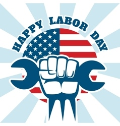 Happy Labor Day and workers right poster vector image