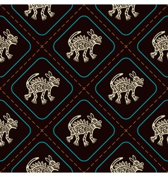Seamless pattern with american indians art vector