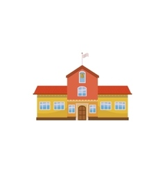 School building icon cartoon style vector
