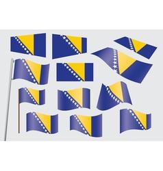 bosnia flag2 vector image