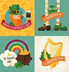St patricks icon set vector
