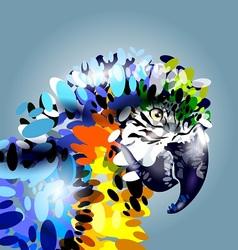 art parrot head vector image