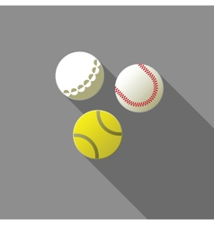 Balls for tennis golf and baseball vector image
