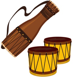 Bata and bongo drums vector