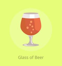 beers snifter in transparent glassware vector image