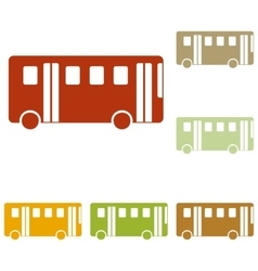 Bus simple sign vector image vector image