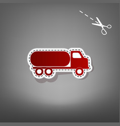 Car transports sign red icon with for vector
