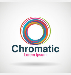 Chromatic emblem business icon vector