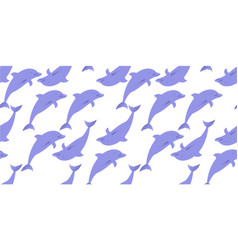 dolphins seamless pattern vector image